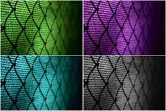 Recinto di filo metallico al campo da tennis Immagine Stock
