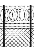 Recinto di filo metallico con i collegare pungenti Fotografia Stock Libera da Diritti