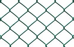 Recinto di filo metallico verde isolato su fondo bianco Immagini Stock Libere da Diritti