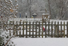 Recinto di inverno Fotografia Stock