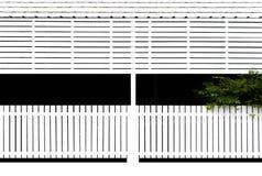 Recinto di legno bianco, fondo Fotografia Stock Libera da Diritti
