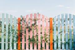 Recinto di legno Colorful fotografia stock