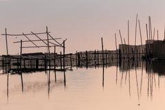 Recinto di legno di pesca Immagine Stock