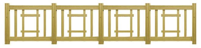 Recinto di legno isolato Fotografie Stock Libere da Diritti