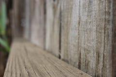Recinto di legno Plank - inclinato con profondità Fotografia Stock