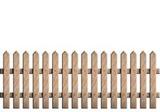 Recinto di legno sopra i precedenti bianchi Immagini Stock