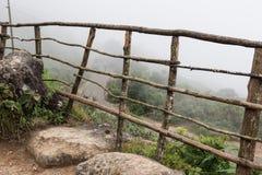 Recinto di legno sulla collina Immagini Stock Libere da Diritti