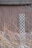 Recinto di legno Textures del metallo della tettoia Immagine Stock Libera da Diritti