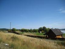 Recinto e cabina del ceppo scenici Fotografie Stock