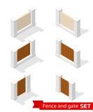 Recinto e portone isometrici Fotografia Stock Libera da Diritti