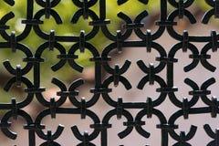 Recinto nero del ferro battuto Fotografie Stock