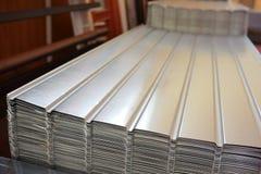 Recinto ondulato del raccordo del metallo Fotografia Stock