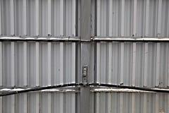 Recinto ondulato di alluminio Fotografia Stock Libera da Diritti
