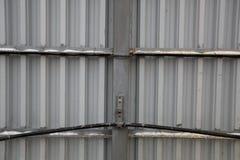 Recinto ondulato di alluminio Fotografia Stock