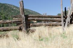 Recinto per bestiame vita del ranch vecchio Fotografie Stock