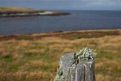 Recinto Post sull'isola più brulla Fotografie Stock Libere da Diritti