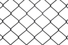 Recinzione arrugginita del collegamento a catena isolata su fondo bianco Immagini Stock Libere da Diritti