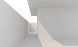 Recinzione bianca vuota delle pareti Fotografia Stock