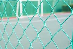 Recinzione del collegamento a catena di colore verde Immagine Stock Libera da Diritti
