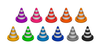 Recinzione del cono illustrazione vettoriale