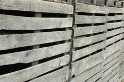 Recinzione di legno traballante Fotografie Stock