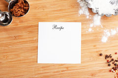 Recipe Royalty Free Stock Photos