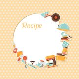 Recipe background with kitchen and restaurant Stock Photos