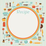 Recipe background with kitchen and restaurant Stock Photography