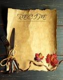 Recipe background Royalty Free Stock Image