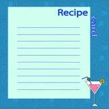 Recipe blank. vector illustration Royalty Free Stock Photography