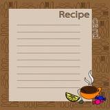 Recipe blank. vector illustration Royalty Free Stock Photo