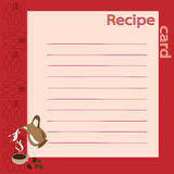 Recipe blank. vector illustration Royalty Free Stock Images