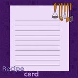 Recipe blank. vector illustration Stock Photos