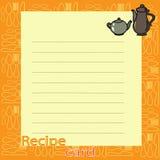 Recipe blank. vector illustration Stock Image