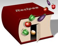 Recipe book Royalty Free Stock Photos
