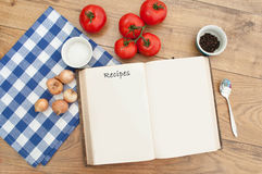 Recipe book Royalty Free Stock Photo
