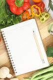 Recipe book Stock Image