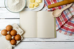 Recipe book background Royalty Free Stock Photo