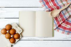 Recipe book background Stock Image