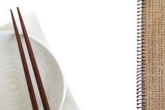 Recipe book. Blank white recipe book on kitchen table Royalty Free Stock Photo