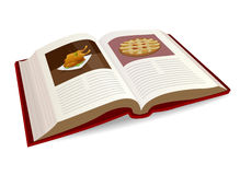 Recipe book. Illustration of a Recipe book Royalty Free Stock Image