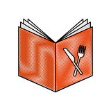 Recipe book isolated icon. Vector illustration design Royalty Free Stock Photos