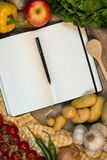 Recipe Book - Space for Text Royalty Free Stock Photos