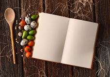 Recipe book on the table Royalty Free Stock Photography