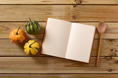 Recipe book on the table Royalty Free Stock Photo