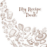 Recipe book template Stock Images