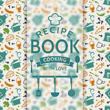 Recipe book. Vector card. Stock Photography