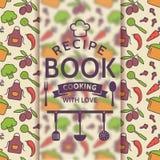 Recipe book. Vector card. Stock Photography