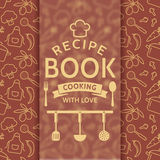 Recipe book. Vector card. Stock Images