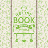 Recipe book. Vector card. Royalty Free Stock Images